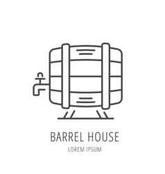 Simple Logo Template Barrel House vector image vector image