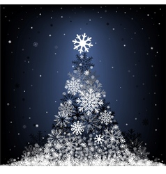 snow fir-tree vector image