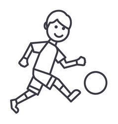 soccer player line icon sign vector image vector image