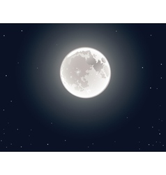 The full moon in the sky vector
