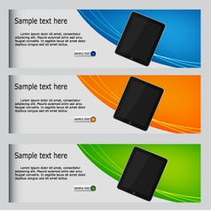 website headers vector image