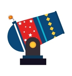 Circus cannon carnival icon vector