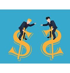 Arm Wrestling Businessman vector image