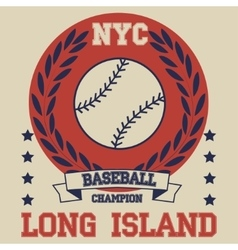 New york brooklyn baseball typography t-shirt vector