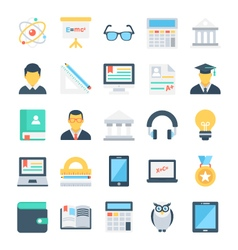 Education Colored Icons 2 vector image