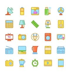 Electronics colored icons 2 vector
