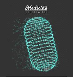 Medicine pill polygonal cylinder vector