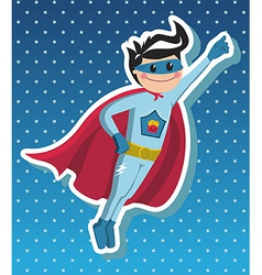 Superhero boy cartoon vector