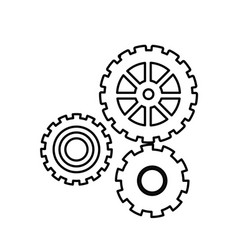 Gear work mechanical cooperation line vector