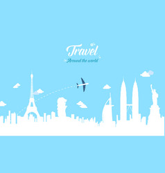 collection stock travel on the world vector image