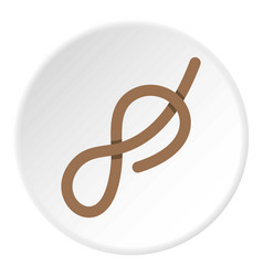 Ship rope icon circle vector