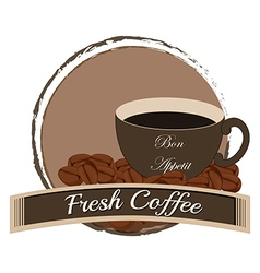 A fresh coffee vector