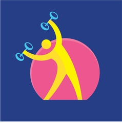 Fitness sign - logo symbol - sport activity vector