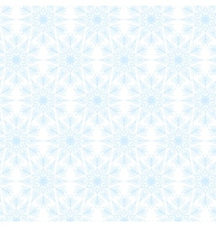 Lace white snowflakes pattern vector