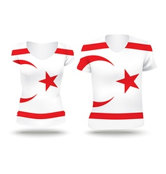 Flag shirt design of northern cyprus vector