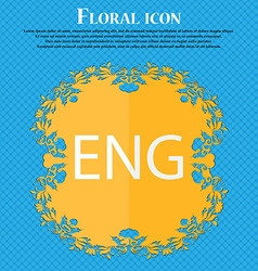 English sign icon great britain symbol floral flat vector