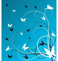 butterflies background vector image