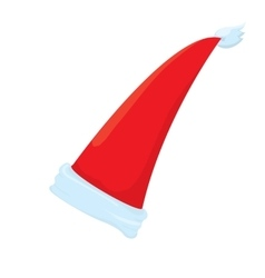Santa hat icon isolated on white santa hat vector
