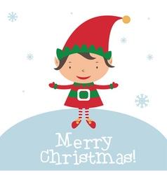 Christmas Elf Card template vector image