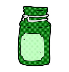 Comic cartoon kitchen jar vector