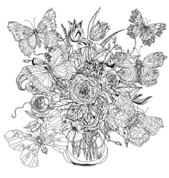 Still life with flowers vector image