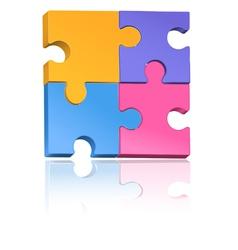 Multicolored jigsaw puzzle vector