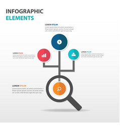 Abstract magnifying glass business infographics vector