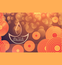 Amazing diwali festival background with bokeh vector