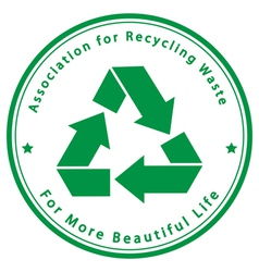 Association for recycling waste vector