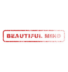 beautiful mind rubber stamp vector image vector image