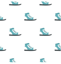 Boot pattern flat vector