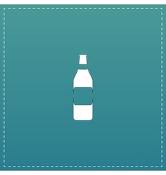 Bottle of beer - vector image vector image