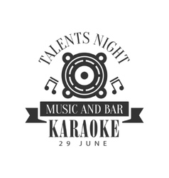 Built In Speaker Karaoke Premium Quality Bar Club vector image vector image