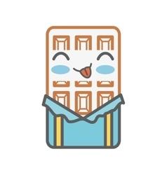 Chocolate bar kawaii style isolated icon vector