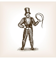 Circus animal trainer sketch vector image