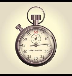 Classic retro stopwatch vector image vector image