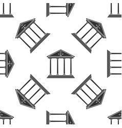 Courthouse seamless pattern on white background vector