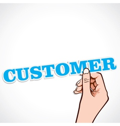 Customer word in hand vector