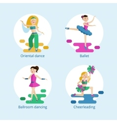 Dance styles for girls vector