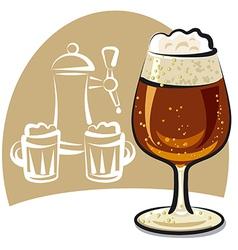 dark beer vector image
