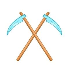 Death scythe icon cartoon style vector
