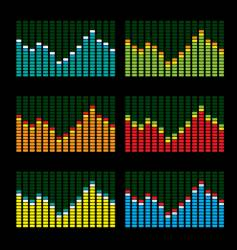 equalizer variation vector image