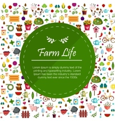 Farm flat banners depicting life in countryside vector image