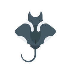 Flat style of stingray vector
