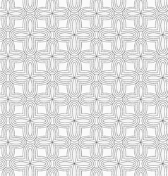 Gray simple four pedal geometric flowers vector