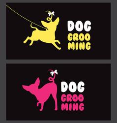 logo for dog hair salon dog beauty salon pet vector image vector image