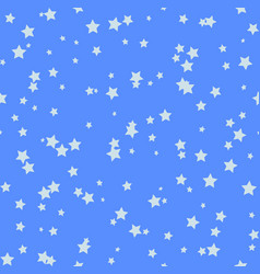 nice cartoon star pattern with different stars vector image vector image