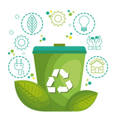 Recycling related design vector