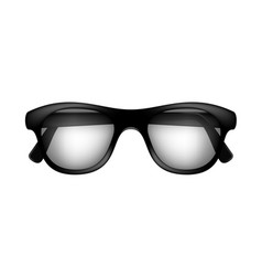 retro glasses in black design vector image vector image