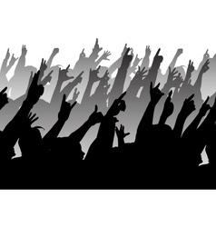 Rock crowd vector